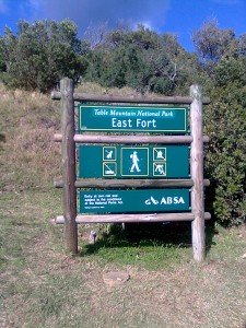 The path to East Fort is well signed