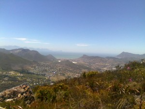 The view of Fish Hoek and False Bay