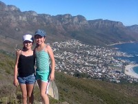 Hiking up Lions Head