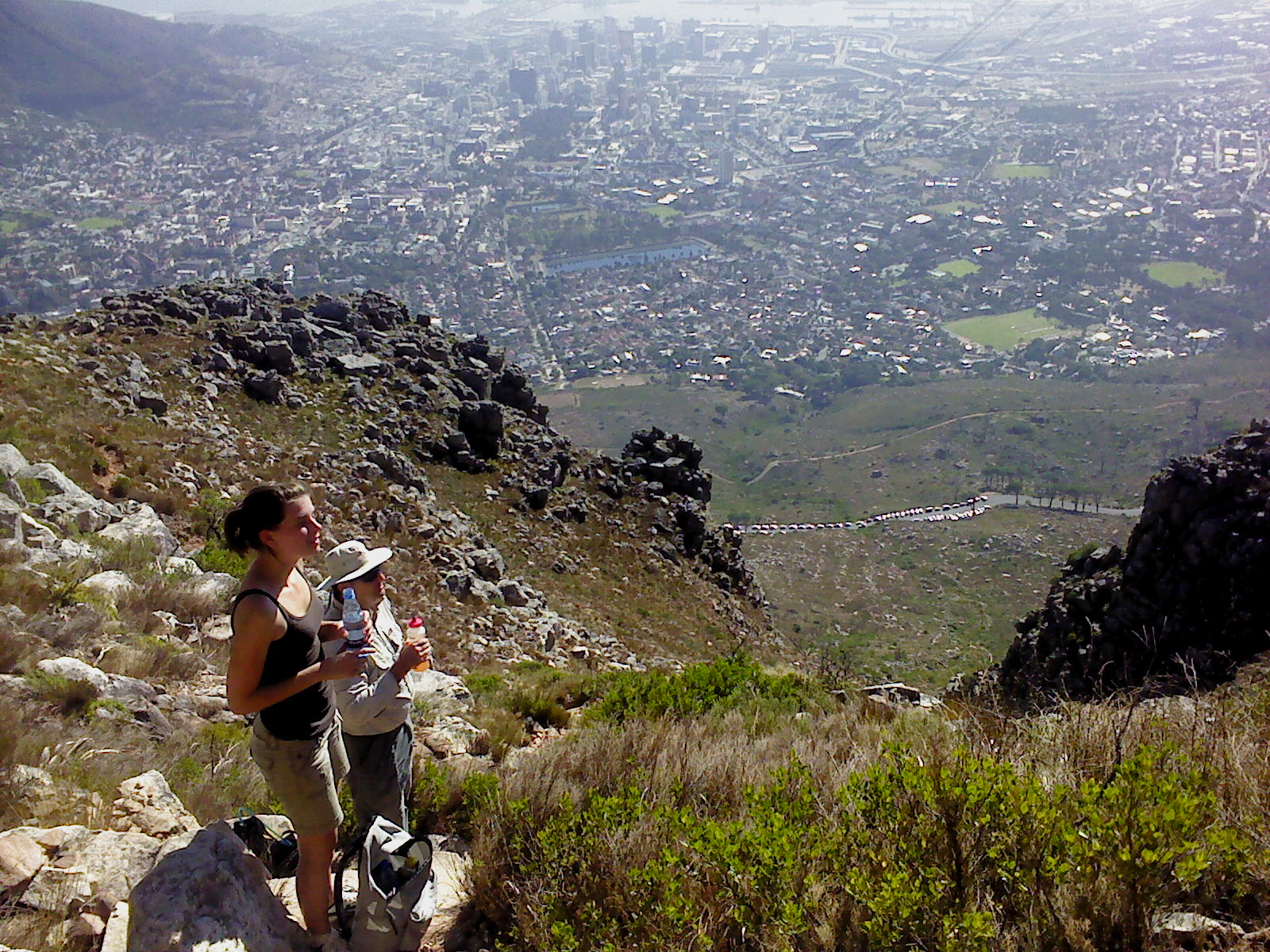 The india venster path Table Mountain