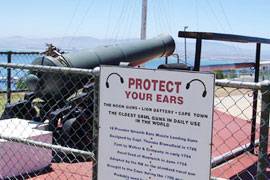 The cannon on Signal Hill in Cape Town